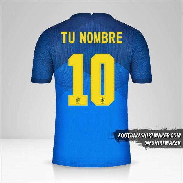 Camiseta Brasil 2020/21 II número 10 tu nombre