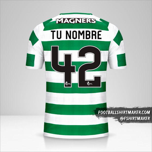 Camiseta Celtic FC 2018/19 número 42 tu nombre
