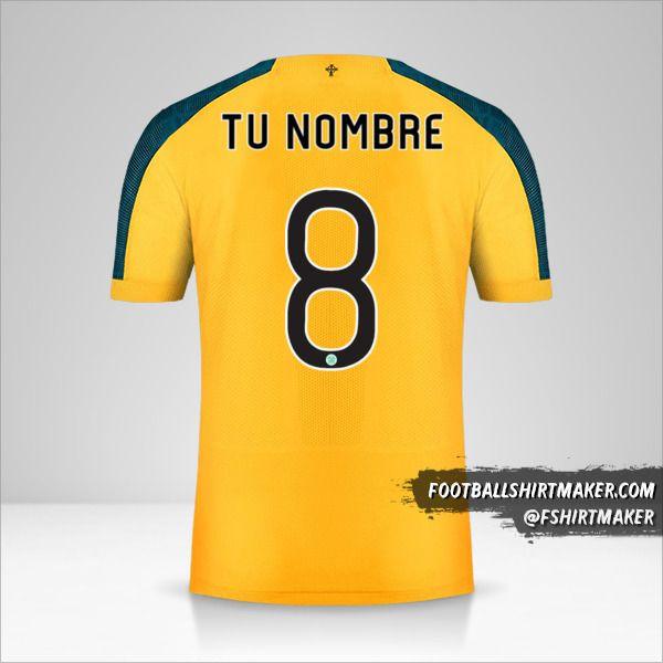 Camiseta Celtic FC 2019/20 Cup II número 8 tu nombre