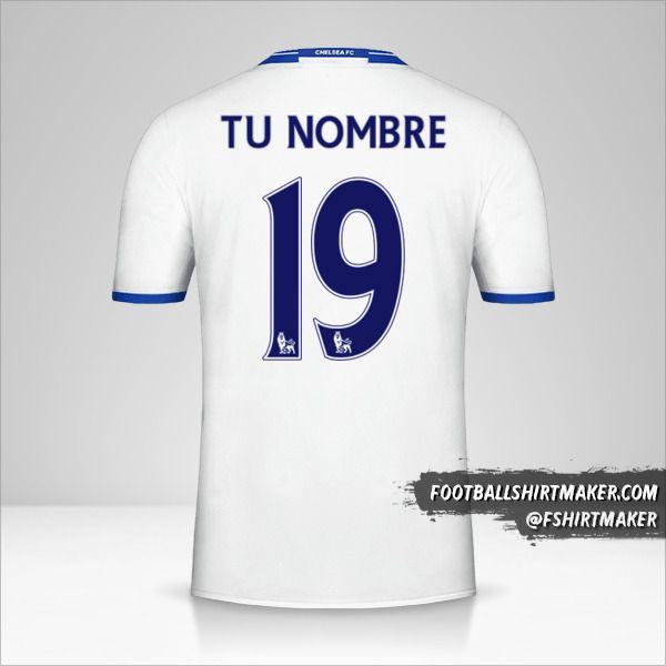 Camiseta Chelsea 2016/17 III número 19 tu nombre