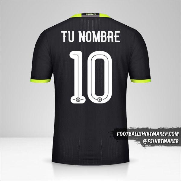 Camiseta Chelsea 2016/17 Cup II número 10 tu nombre