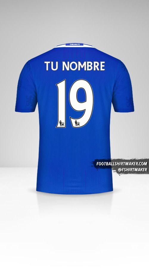 Camiseta Chelsea 2016/17 número 19 tu nombre