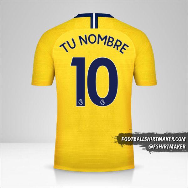 Camiseta Chelsea 2018/19 II número 10 tu nombre