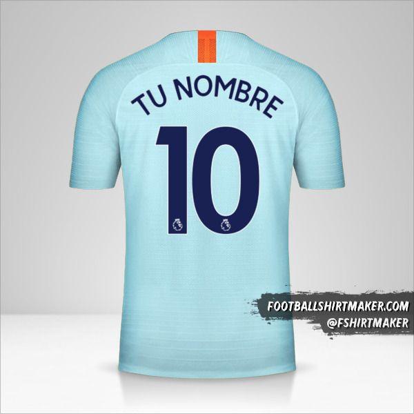 Camiseta Chelsea 2018/19 III número 10 tu nombre