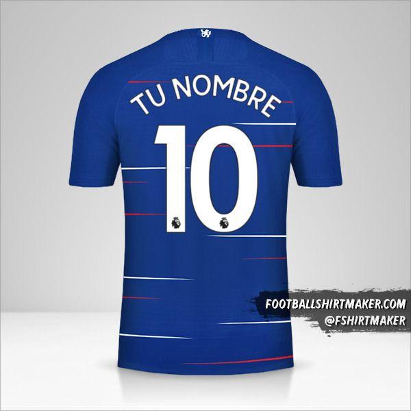 Camiseta Chelsea 2018/19 número 10 tu nombre