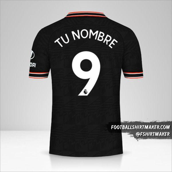 Camiseta Chelsea 2019/20 III número 9 tu nombre