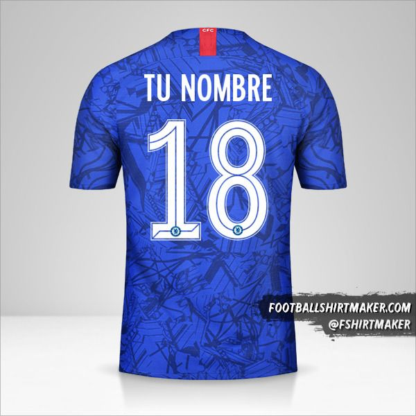 Camiseta Chelsea 2019/20 Cup número 18 tu nombre