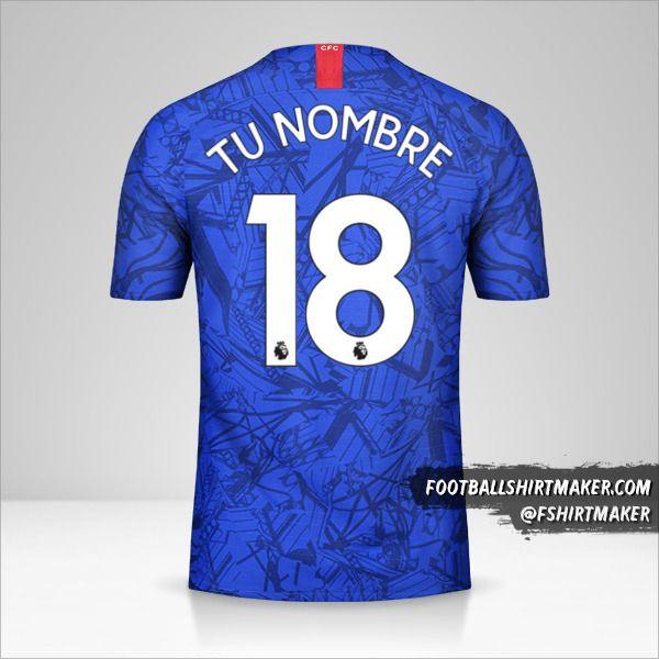 Camiseta Chelsea 2019/20 número 18 tu nombre
