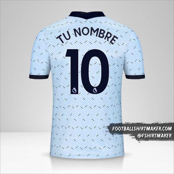 Camiseta Chelsea 2020/21 II número 10 tu nombre