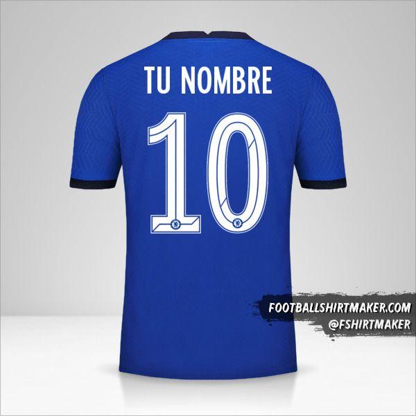 Camiseta Chelsea 2020/21 Cup número 10 tu nombre