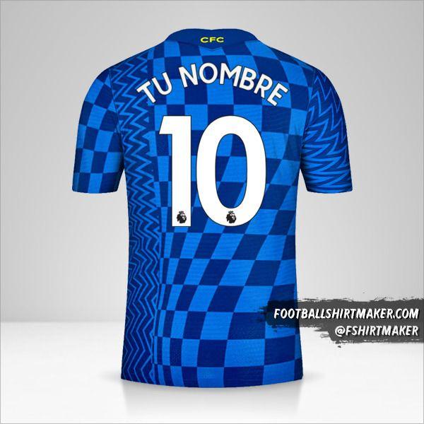 Camiseta Chelsea 2021/2022 número 10 tu nombre
