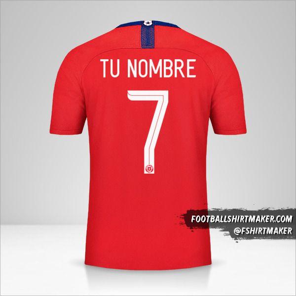 Camiseta Chile 2018/19 número 7 tu nombre