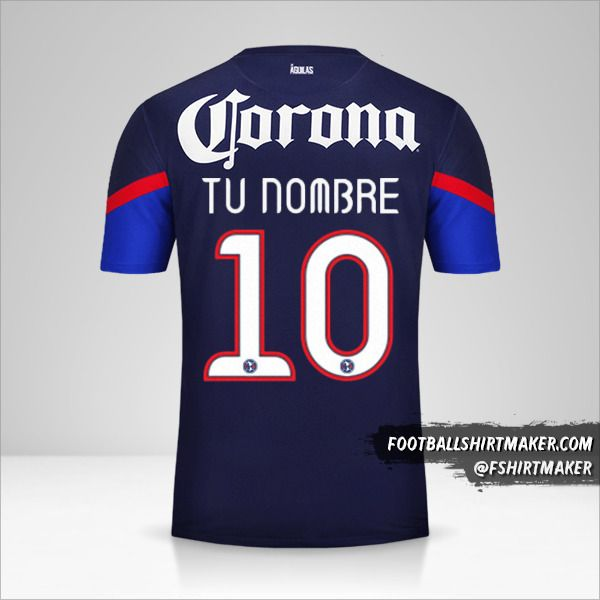 Camiseta Club America 2012/13 II número 10 tu nombre