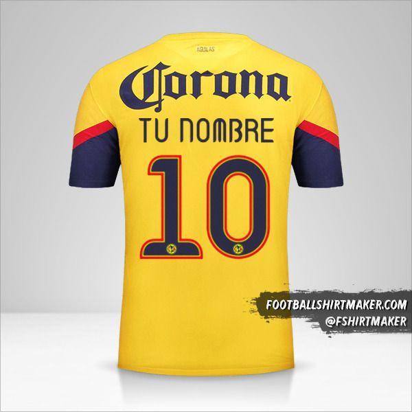 Camiseta Club America 2012/13 número 10 tu nombre