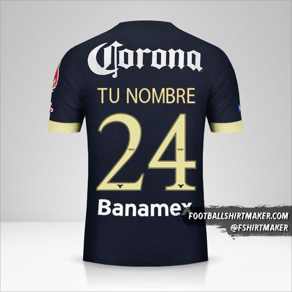 Camiseta Club America 2014/15 II número 24 tu nombre