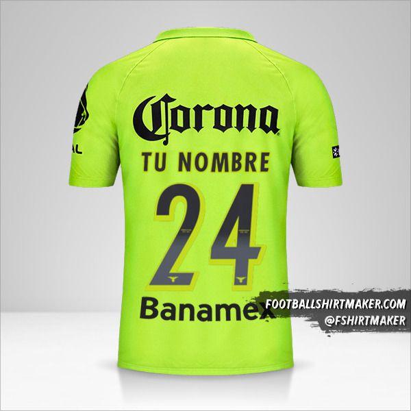 Camiseta Club America 2014/15 III número 24 tu nombre