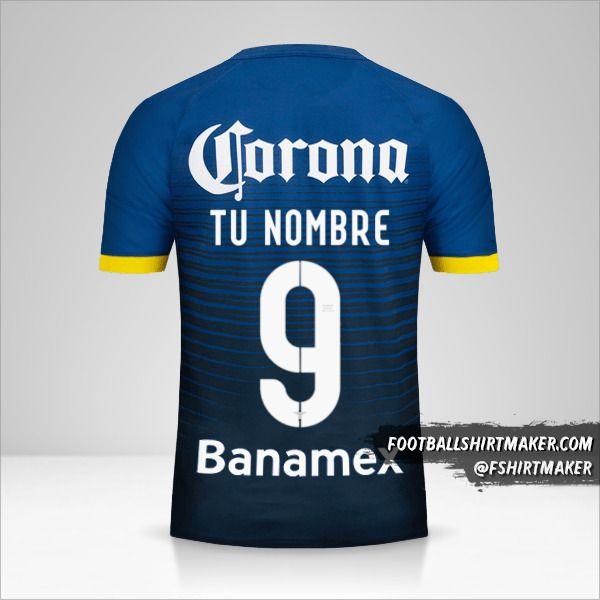 Camiseta Club America 2015/16 II número 9 tu nombre