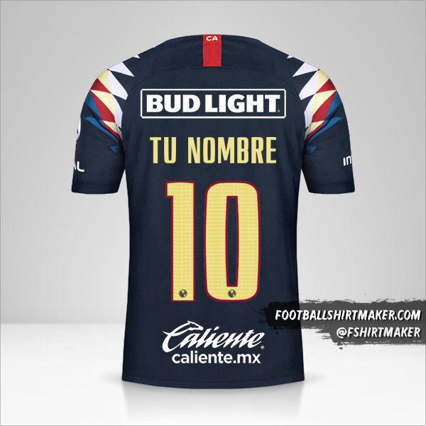 Camiseta Club America 2019/20 II número 10 tu nombre