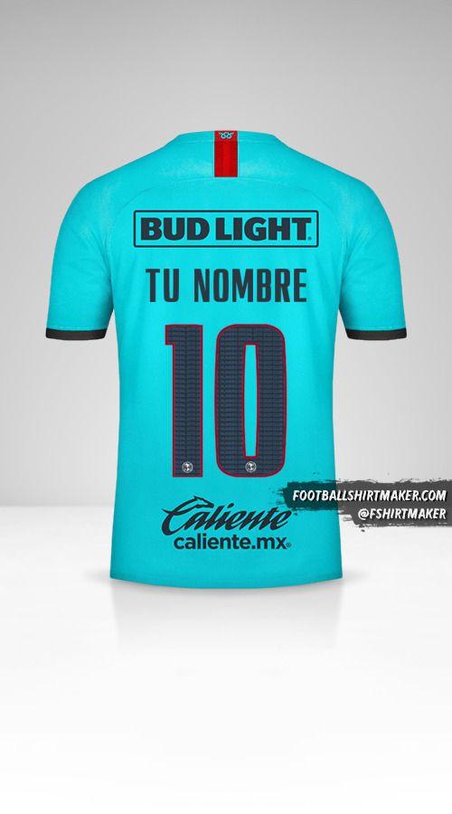 Camiseta Club America 2019/20 III número 10 tu nombre
