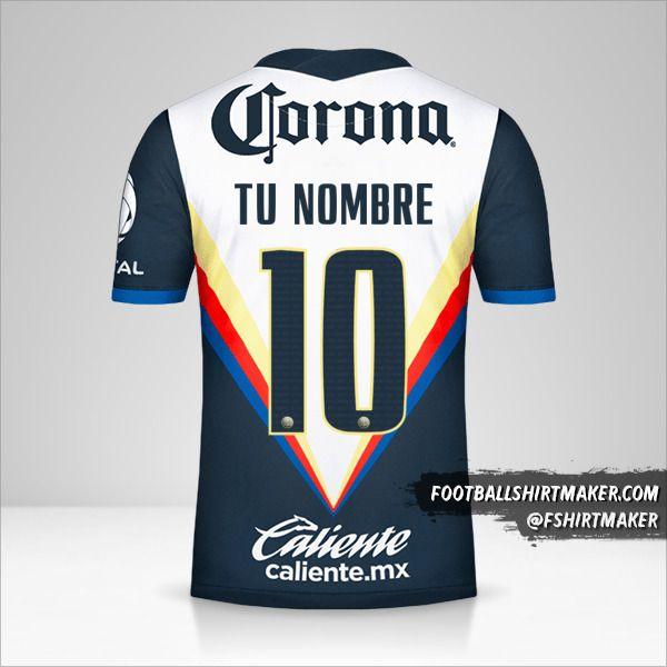 Camiseta Club America 2020/21 II número 10 tu nombre