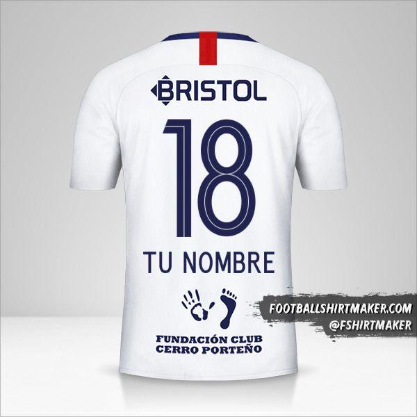 Camiseta Club Cerro Porteño 2019 II número 18 tu nombre