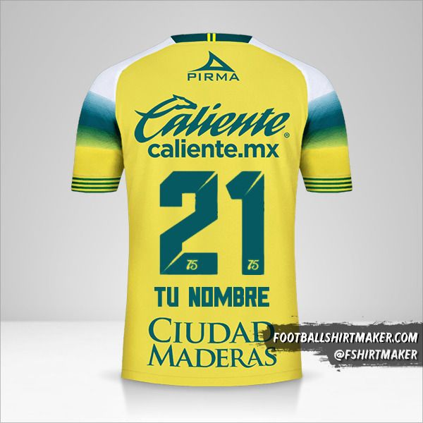 Camiseta Club Leon 2019/20 II número 21 tu nombre
