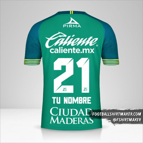 Camiseta Club Leon 2019/20 número 21 tu nombre