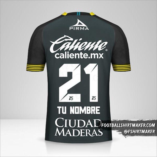 Camiseta Club Leon 2020 III número 21 tu nombre