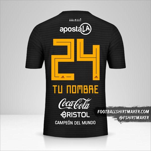 Camiseta Club Olimpia 2018/19 II número 24 tu nombre