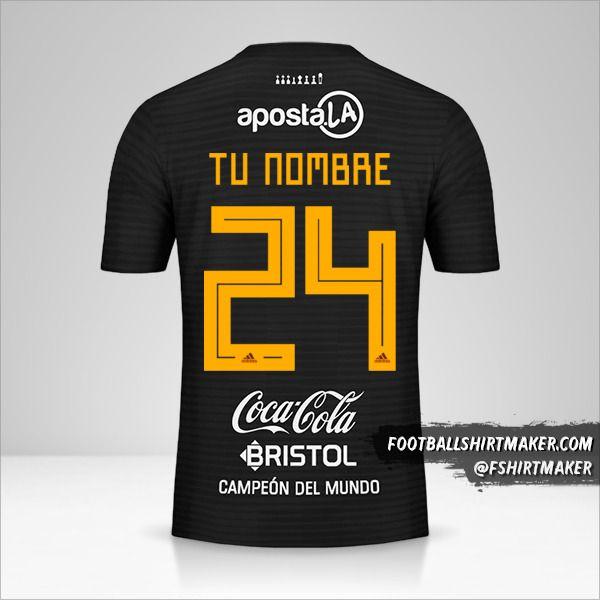 Camiseta Club Olimpia Libertadores 2019 II número 24 tu nombre