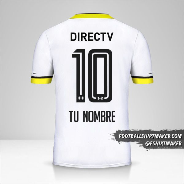 Camiseta Colo Colo 2016 número 10 tu nombre