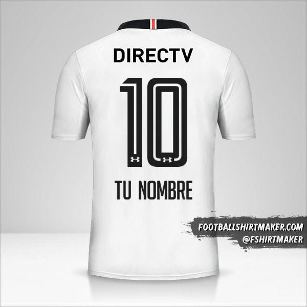 Camiseta Colo Colo 2017 número 10 tu nombre