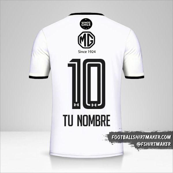 Camiseta Colo Colo 2018 número 10 tu nombre