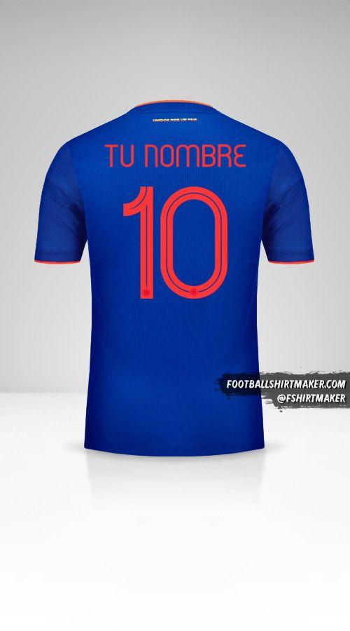 Camiseta Colombia 2019 II número 10 tu nombre
