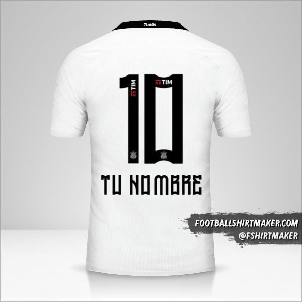 Camiseta Corinthians 2016 número 10 tu nombre