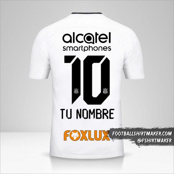 Camiseta Corinthians 2017/18 número 10 tu nombre