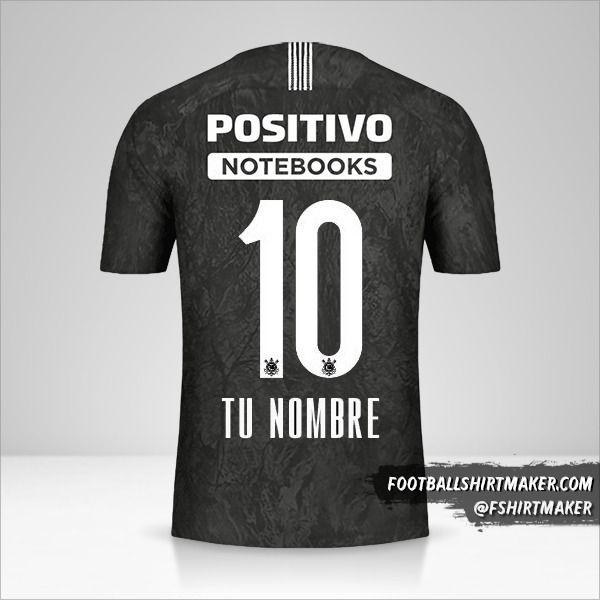 Camiseta Corinthians 2018/19 II número 10 tu nombre