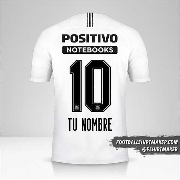 Camiseta Corinthians 2018/19 número 10 tu nombre