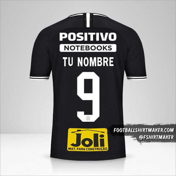 Camiseta Corinthians 2019/20 II número 9 tu nombre
