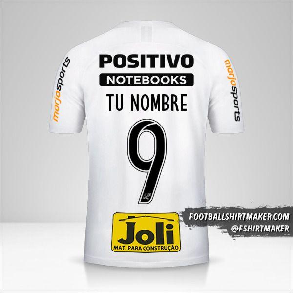 Camiseta Corinthians 2019/20 número 9 tu nombre