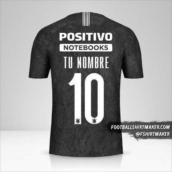 Camiseta Corinthians Sudamericana 2019 II número 10 tu nombre