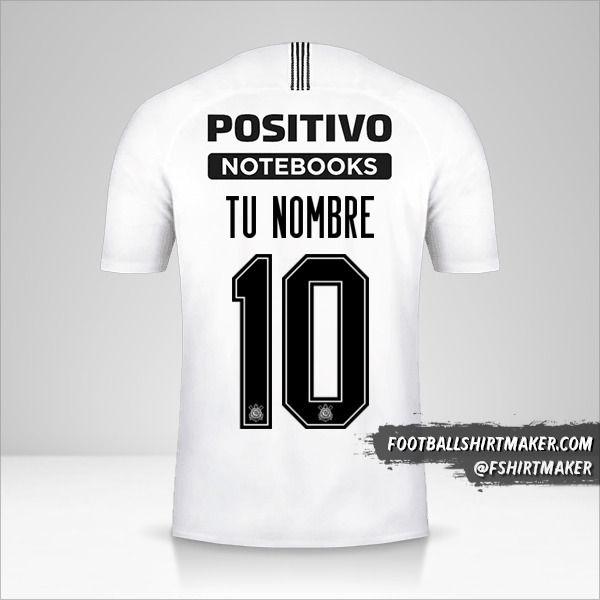 Camiseta Corinthians Sudamericana 2019 número 10 tu nombre
