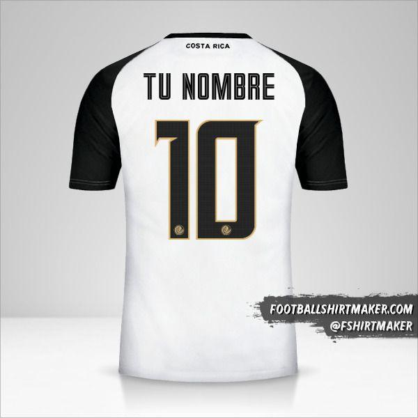 Camiseta Costa Rica 2018 II número 10 tu nombre