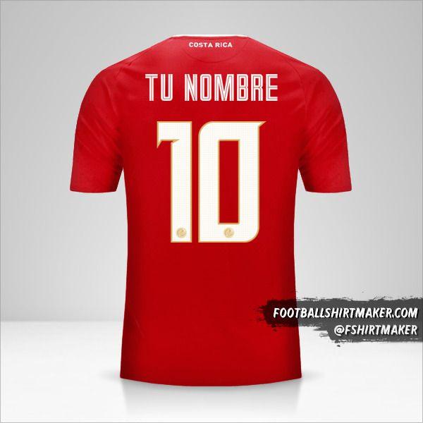 Camiseta Costa Rica 2018 número 10 tu nombre