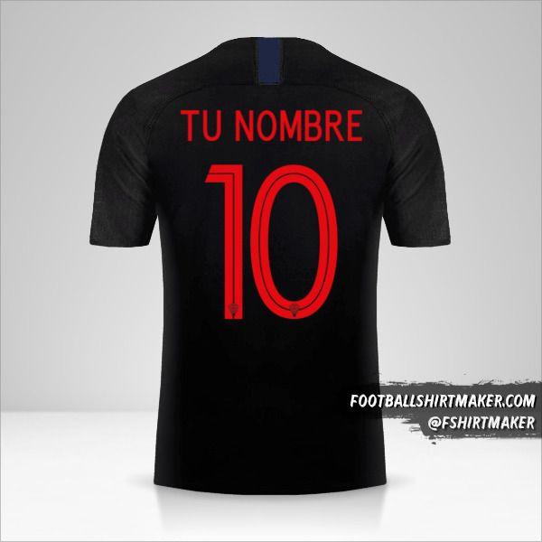 Camiseta Croacia 2018 II número 10 tu nombre