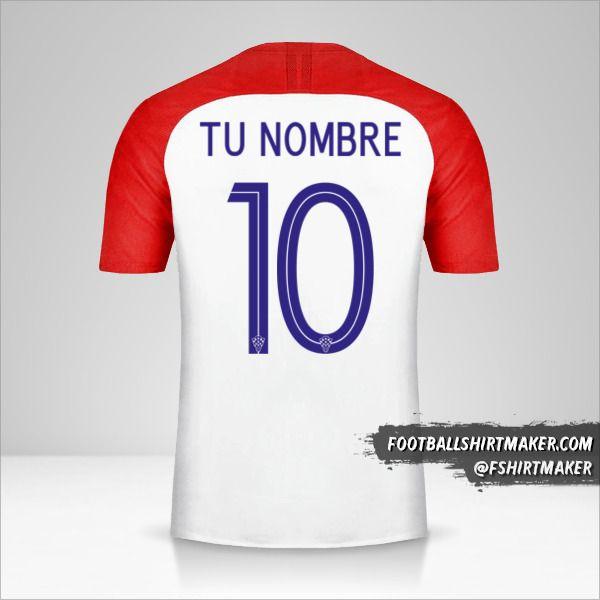 Camiseta Croacia 2018 número 10 tu nombre
