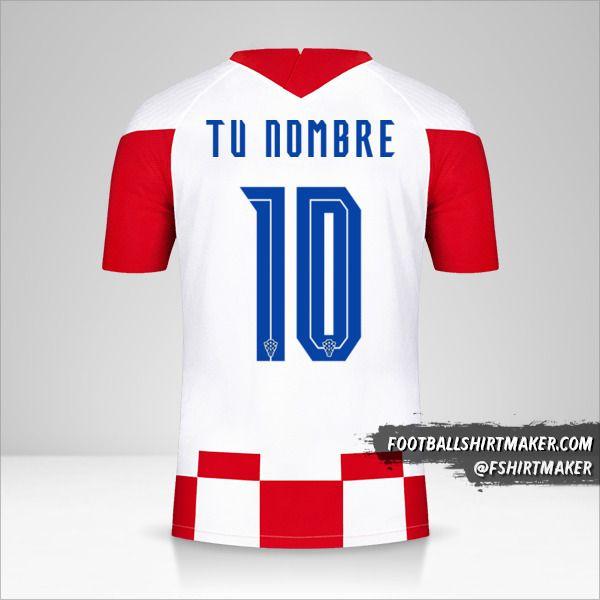 Camiseta Croacia 2020/2021 número 10 tu nombre