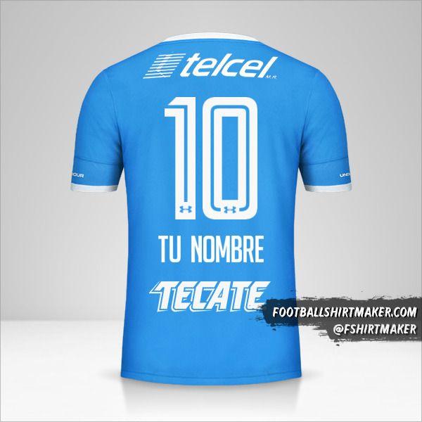 Camiseta Cruz Azul 2016/17 número 10 tu nombre