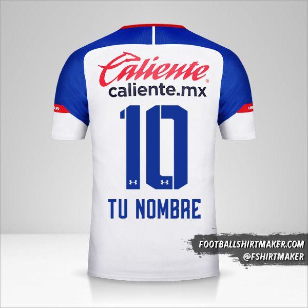 Camiseta Cruz Azul 2018/19 II número 10 tu nombre