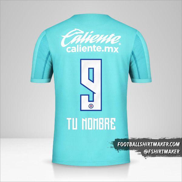 Camiseta Cruz Azul 2019/20 III número 9 tu nombre